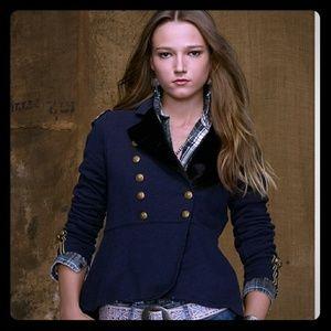 New Ralph Lauren military jacket with velvet trim